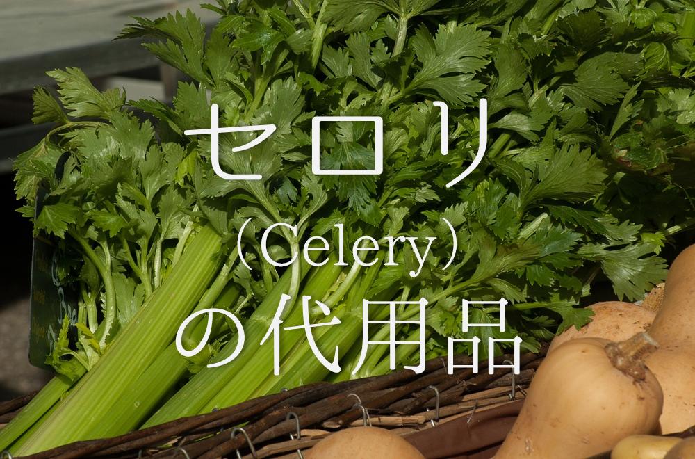 【セロリの代用品 13選】代わりになる野菜はコレ!おすすめ代替品を紹介