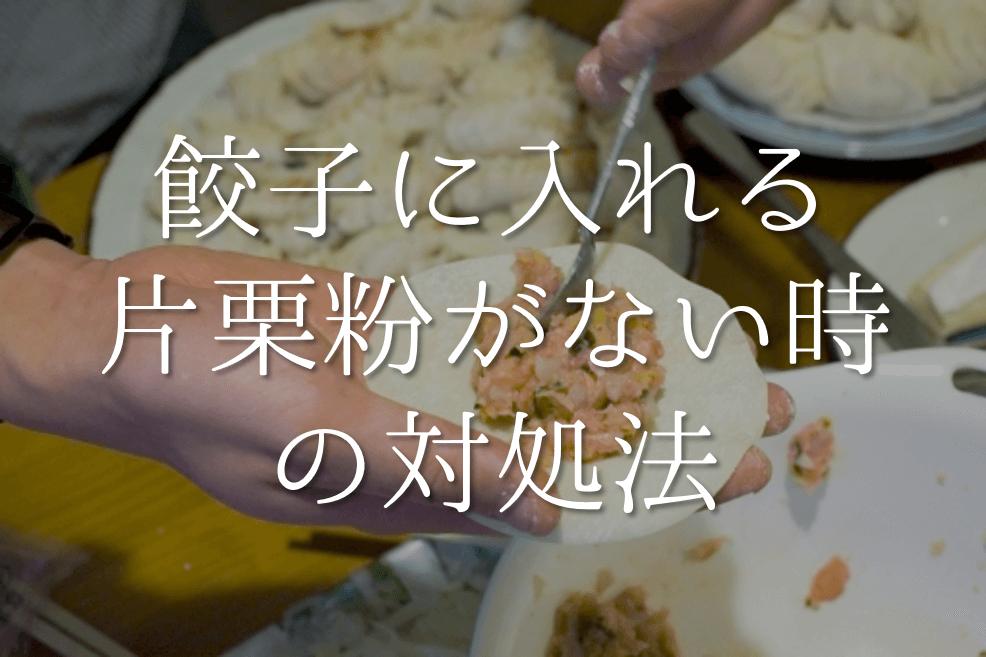 【餃子に入れる片栗粉がない時の対処法 15選】絶対必要!?代わりになるオススメ代用品を紹介!